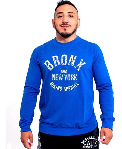 Imagen 1 de 6 de Buzo Bronx Hombre Algodon Entrenamiento Boxeo Gym Olivos
