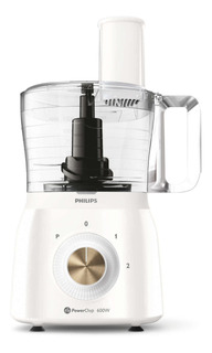 Multiprocesadora Philips Viva Collection HR7615 600W blanca 220V