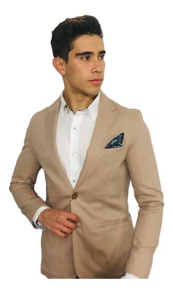 Blazer Saco Para Hombre Color Khaki Peaceful Tallas Plus