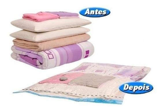 10 Saco A Vacuo Organizador Cama Edredom Cobertor 70x110 Cm