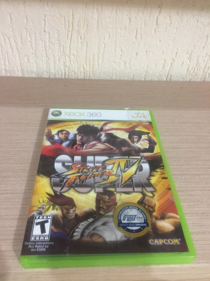 Game Super Street Fighter 4 Original Xbox360 - Usado