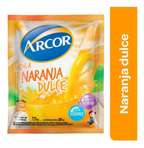 Jugo En Polvo Arcor Sabor Naranja Dulce Caja 18 Un X 20 Gr