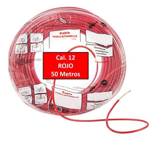 Bolsa 50 Mts Cable Iusa Rojo Thw Cal 12 Awg 100%cobre