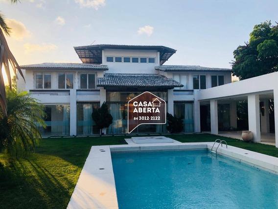 Casa Com 5 Dormitórios, 1200 M² - Venda Por R$ 4.500.000,00 Ou Aluguel Por R$ 7.300,00/mês - Candelária - Natal/rn - Ca0001