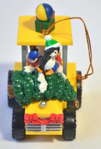 Christmas Tree Decoration Santa Claus Driving Tractor