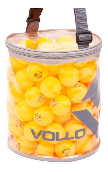 Bola Tênis De Mesa Fun 40 Vollo Vt609 100 Unidades Ping Pong