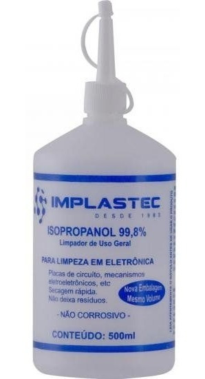 Alcool Isopropilico Implastec 500ml C/aplicador