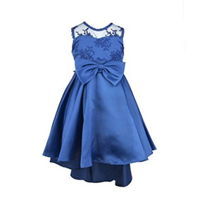 Vestido Formal Azul Elegante Princesa Largo Bordado Boda 6-7