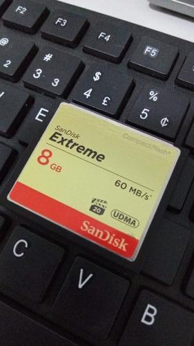 Imagem 1 de 3 de Cartão De Memória Sandisk Extreme 8gb