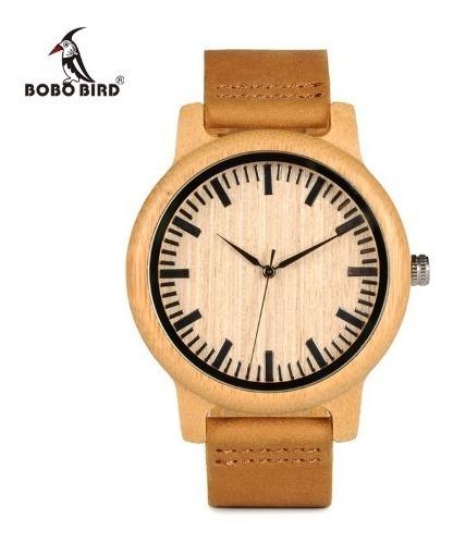 Relógio Importado Unissex Bobo Bird® De Madeira - Oferta