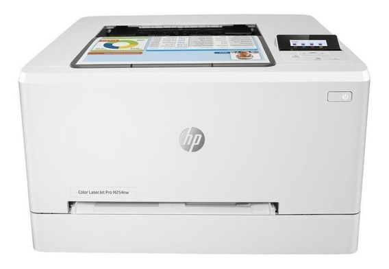 Impressora a cor HP LaserJet Pro M254DW com Wi-Fi 220V branca