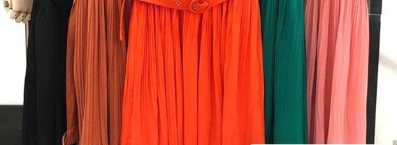 Vestido Longo Folhagens Cordão Moda Instagram Blogueira