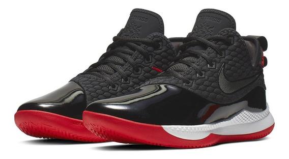 Tenis Nike Lebron Witness 3 Premium Negro Básquetbol
