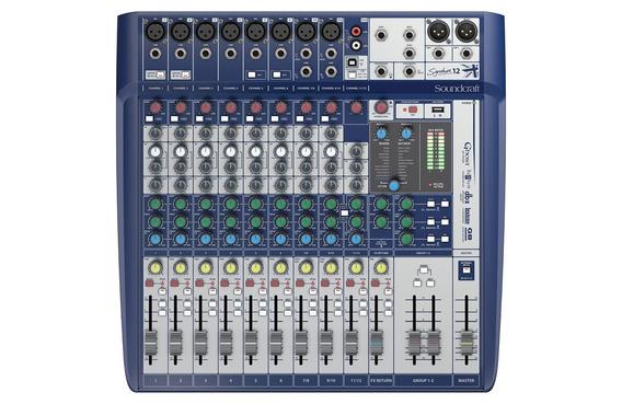 Mesa De Som 12 Canais Soundcraft Signature 12 Usb - Loja