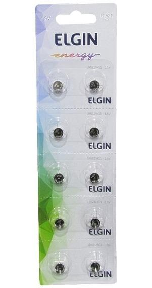 Bateria Moeda Elgin Lr621 Ag1 1.5v Cartela C/ 10pçs