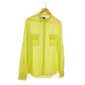 Camisa Verde Limãotransparente Manga Longa Hering Tamanho Xl