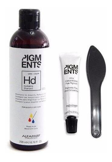 Kit Alfaparf Pigments Shampoo Hidratacion +concentrado Color