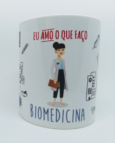 Caneca Personalizada Profissão Biomedicina - Biomédica