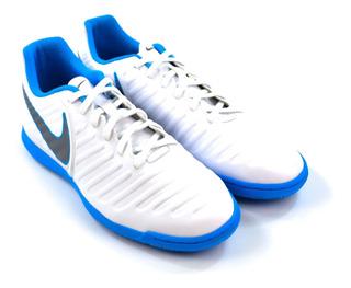 Tênis Futsal Tiempo Legend 7 Branco/azul Nike 18345