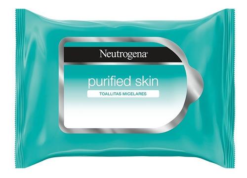 Toallitas Desmaquillantes Purified Skin 25 Pzas Neutrogena