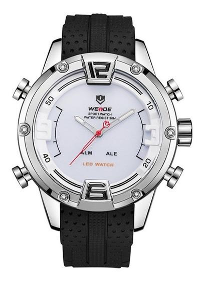 Relógio Masculino Luxo Weide Wh7301 Digital Analógico Barato