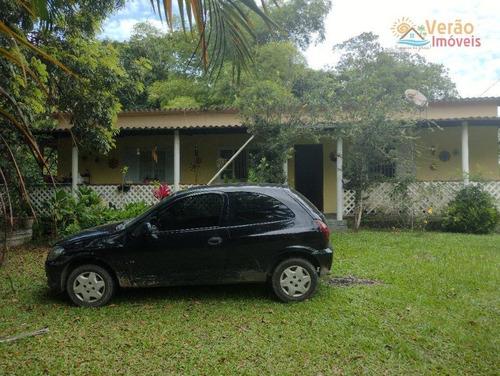 Chácara Com 3 Dormitórios À Venda, 2000 M² Por R$ 320.000,00 - Parque Real - Itanhaém/sp - Ch0020