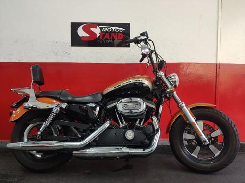 Harley Davidson Sportster Xl 1200 Custom Ca Abs 2014 Laranja