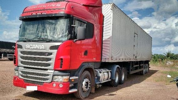 Conjunto Cavalo E Carreta Scania R420 6x2 Highline 2010