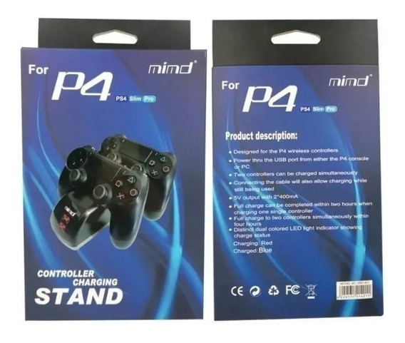 Carreg P\2 Controles Ps4\slim\pro Mimd - Cap