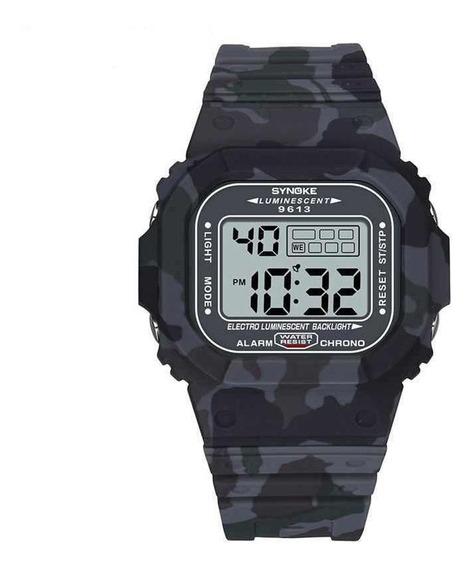 Relógio Masculino Synoke 9613 Esportivo Digital Quadrado Nf