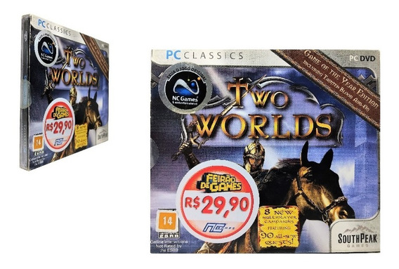 Jogo Computador Two Worlds Game Pc Dvd Midia Física Ação Rpg