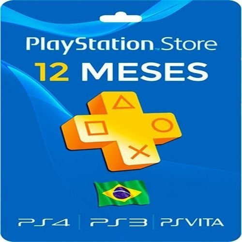 Cartão Assinatura Playstation Plus 12 Meses Psn Brasileira