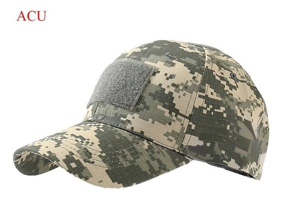 Boné Camuflado Acu Tático Militar Airsoft Paintball Rip-stop
