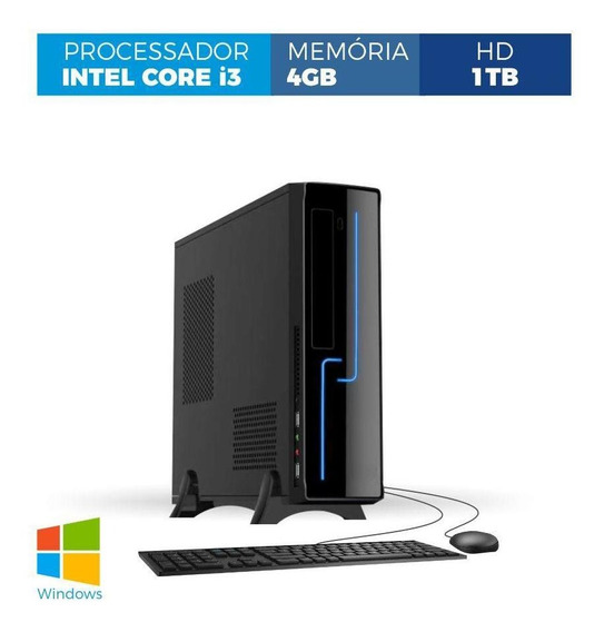 Computador Corporate Slim I3 4gb 1tb Windows Kit
