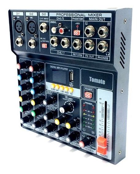 Mesa De Som Profissional 7 Canais Bluetooth Grava Usb Mp3 Tm