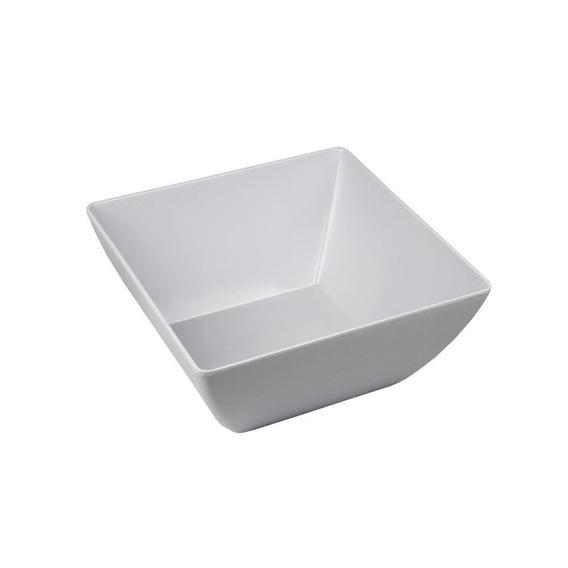 Saladeira Quadrada Melamina 15,4cm Branca - A/casa