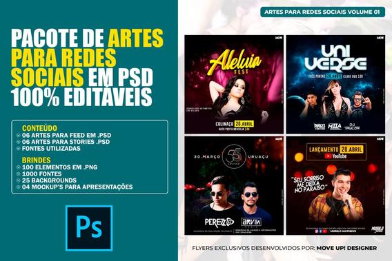 Pacote De Artes Para Redes Sociais Em Psd 100% Editáveis
