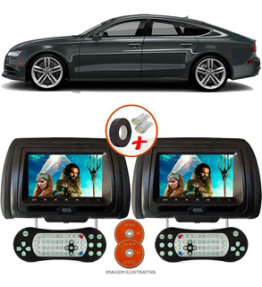 Par Tela Encosto Cabeça 7 P Leitor Dvd Sony Usb Audi A7 Sed