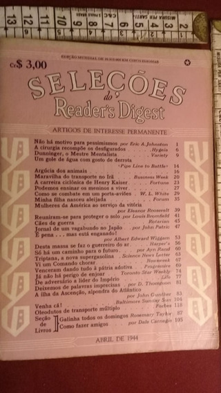 Revista Seleções Nº27 De Abril De 1944 Ww2