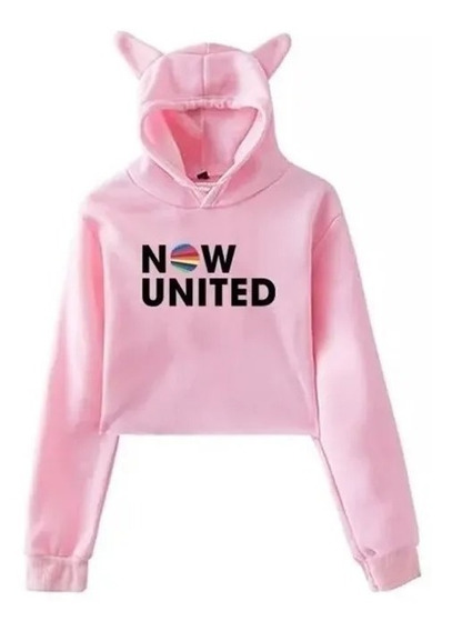 Moletom Cropped Orelha Infantil Now United Blusa Menina##