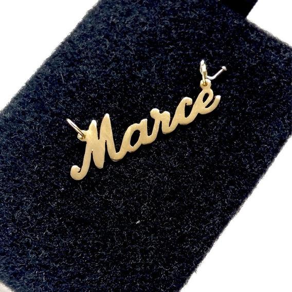 Dije Personalizado Con Nombre Oro Macizo 14k