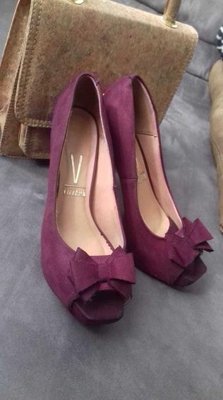 Sapato Vizzano Peep Toe Perfeito Estado