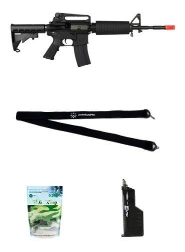 Rifle Airsoft Elétrico King Arms M4a1 Grade + Acessórios