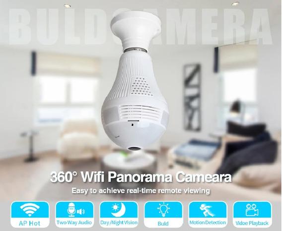 Câmera Wifi - Lâmpada Ip 360° Onvif - Visão Noturna - Alarme