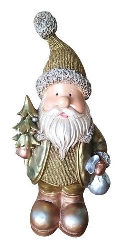 Santa Clauss De 40 Cm. Decoración Navideña. Metalico Resina