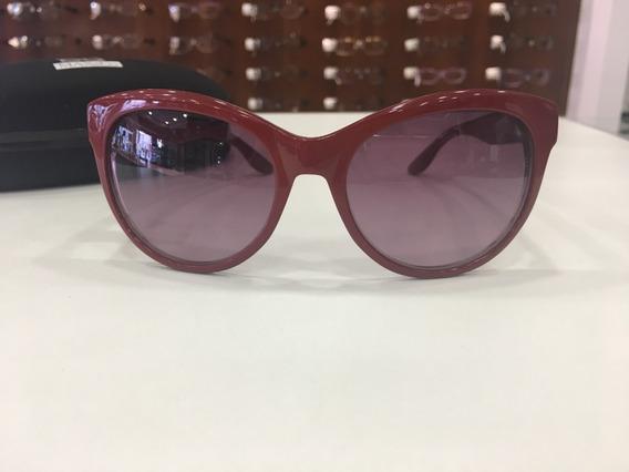 Óculos De Sol Max&co Acetato Vermelho Poá Bolinha Feminino