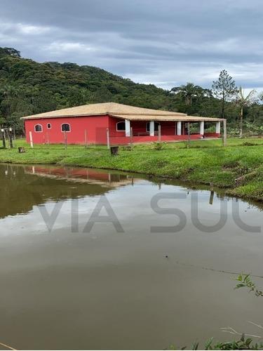 Chácara Rica Em Água Com Lindos Lagos Piscosos E Riacho Nos Fundos Do Terreno. Localizada Em Juquitiba/sp - 285 - 69572920