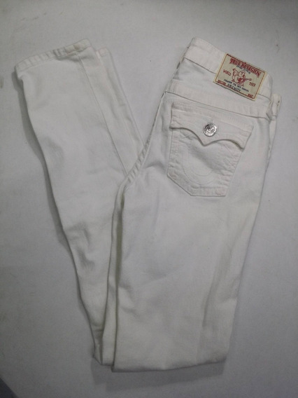 Pantalon Niña True Religion Girls Misty Talle 14 Blanco Uso
