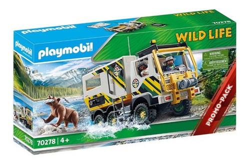 Imagen 1 de 9 de Playmobil 70278 Camion De Expedicion Zoo Original