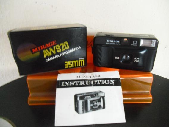 Antiga Câmera Fotográfica Mirage Aw 920 Anos 90 Funcionando